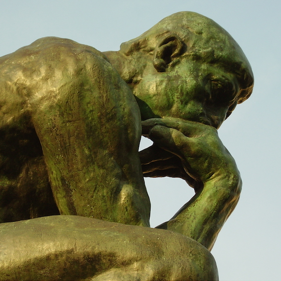 Statue of The Thinker by Rodin