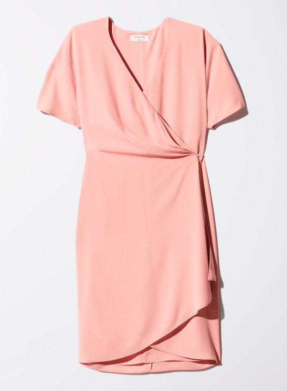 Pink wrap-dress