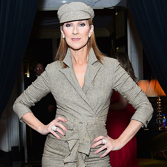 Céline Dion, hands on hips, looking gorgeous