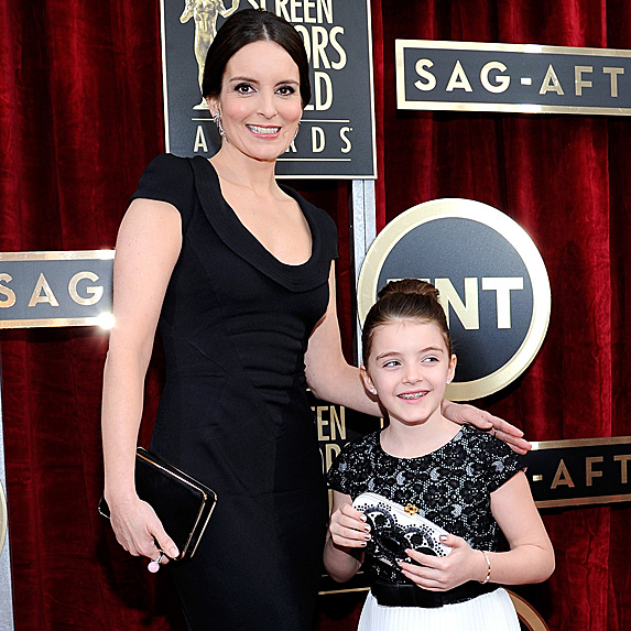 Tina Fey and daughter Alice