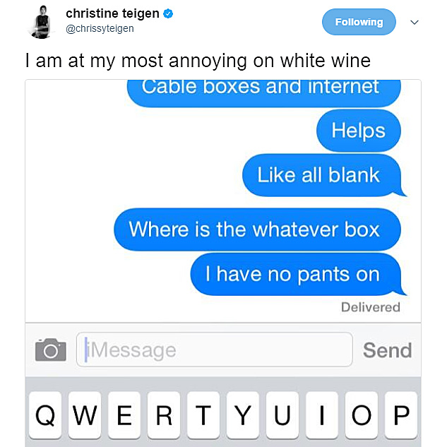 Chrissy Teigen tweets conversation with John Legend
