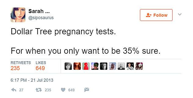 Dollar store pregnancies are a no-no
