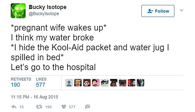 Water breaking is no joke