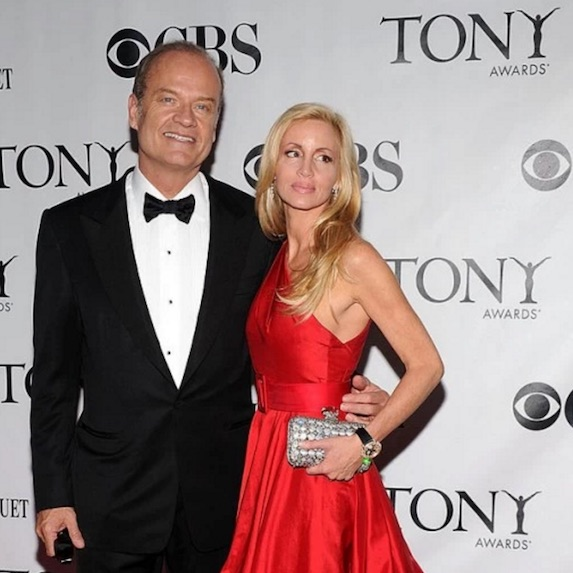 Kelsey Grammer poses with ex-wife Camille Grammer