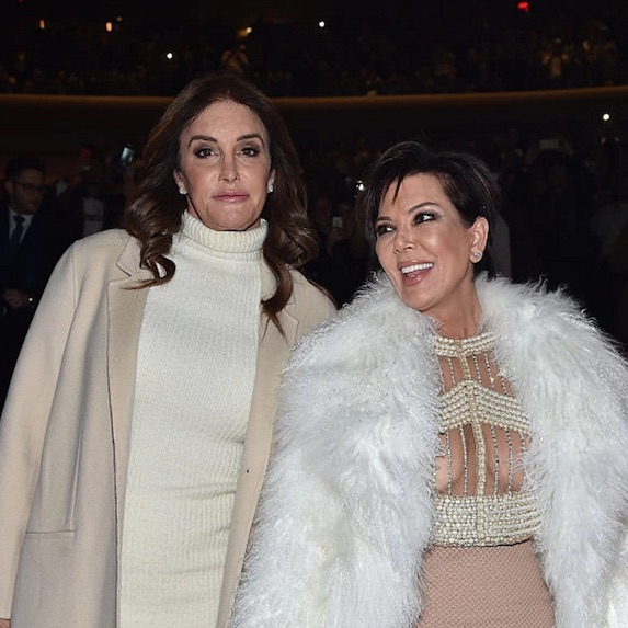 Caitlyn Jenner and Kris Jenner at Kanye West Yeezy fashion show