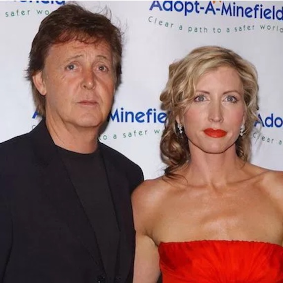 Former Beatle Paul McCartney with then-wife Heather Mills