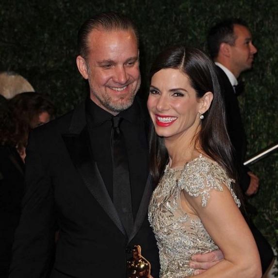 Jesse James and former wife Sandra Bullocks attend the Academy Award ceremony