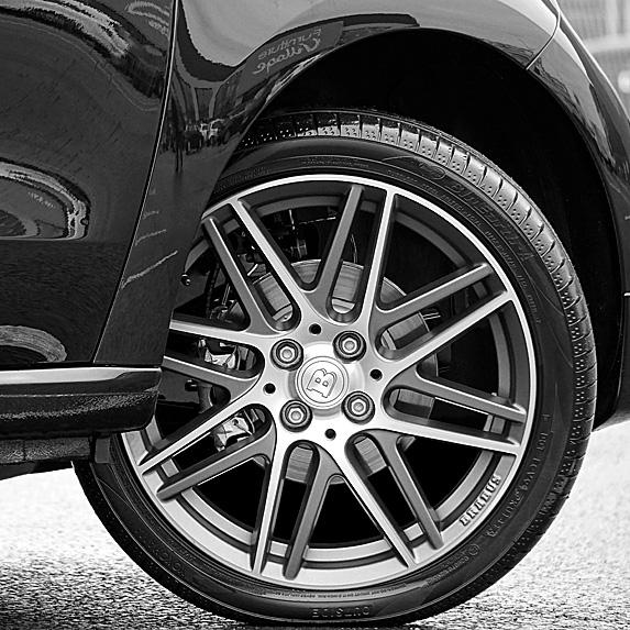 Closeup of car tire