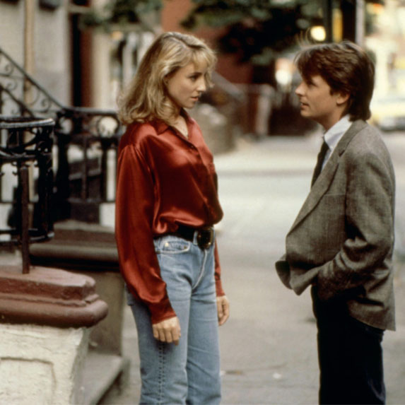 Michael J. Fox and Tracy Pollan younger