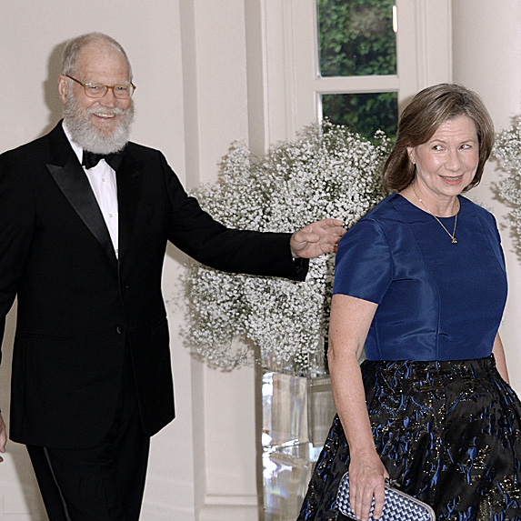 David Letterman and wife Regina Lasko