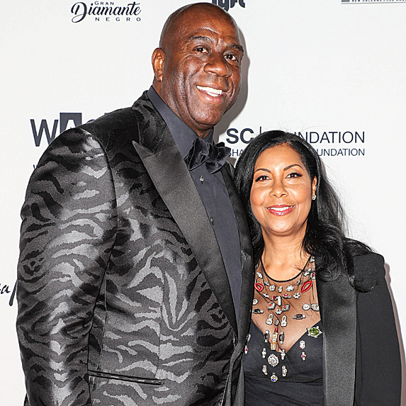 Magic Johnson and Cookie Johnson