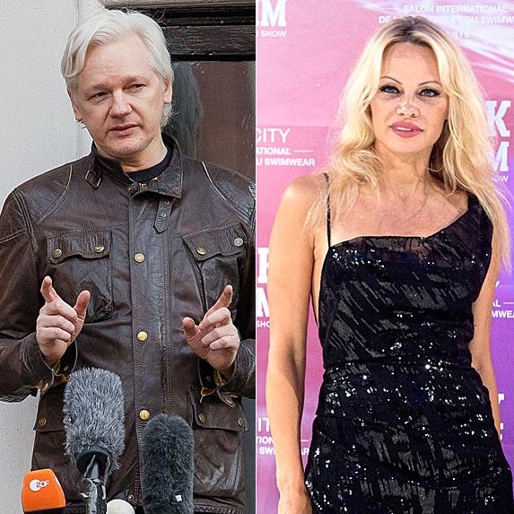 Julian Assange and Pamela Anderson