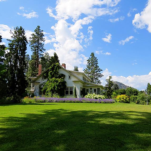 House on beautifully manicured property