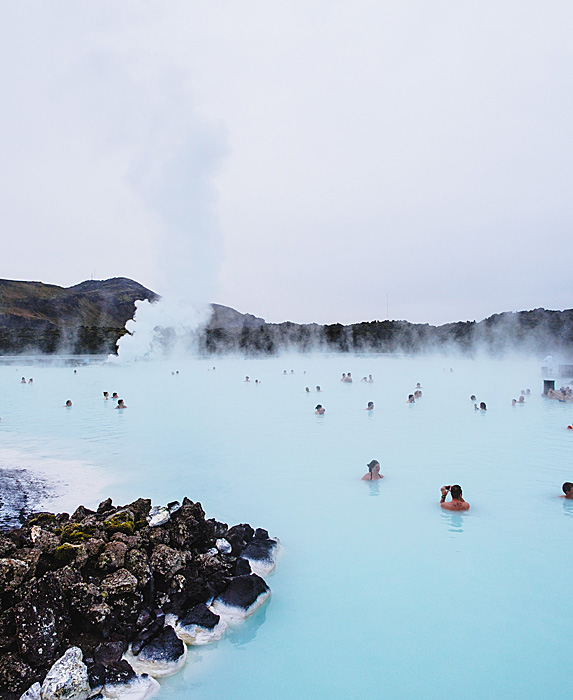 People in a hot spring