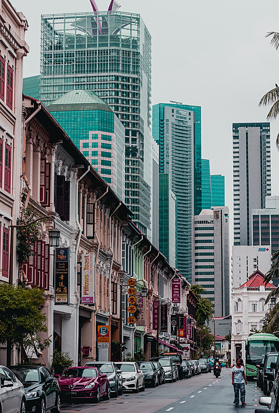 Old and new areas of Singapore