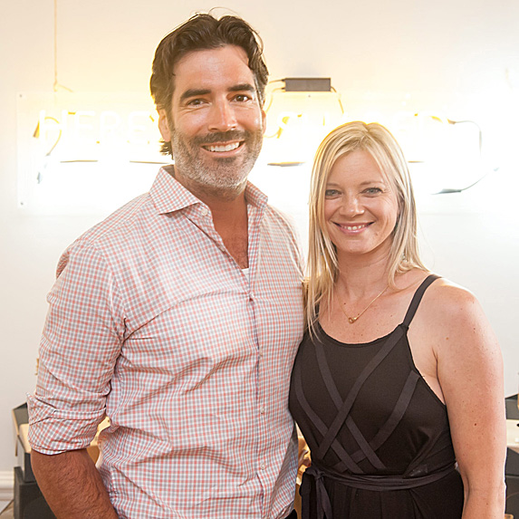 Amy Smart and husband Carter Oosterhouse