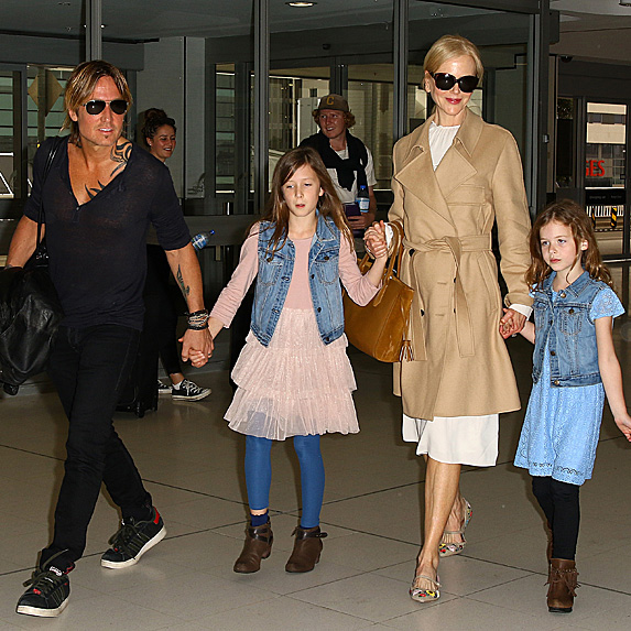 Nicole Kidman, Keith Urban and their daughters, Sunday and Faith