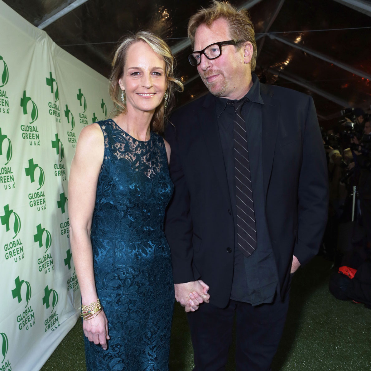 Helen Hunt and Matthew Carnahan break up together at an event