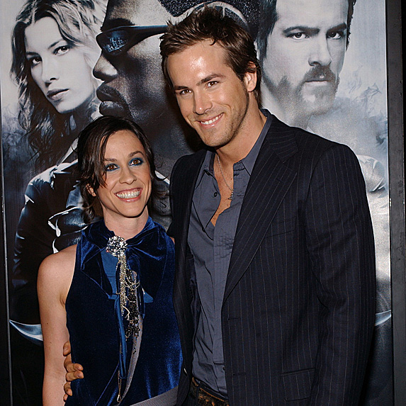 Alanis Morissette and Ryan Reynolds