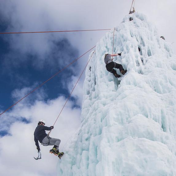 Ice-climbing in British Columbia