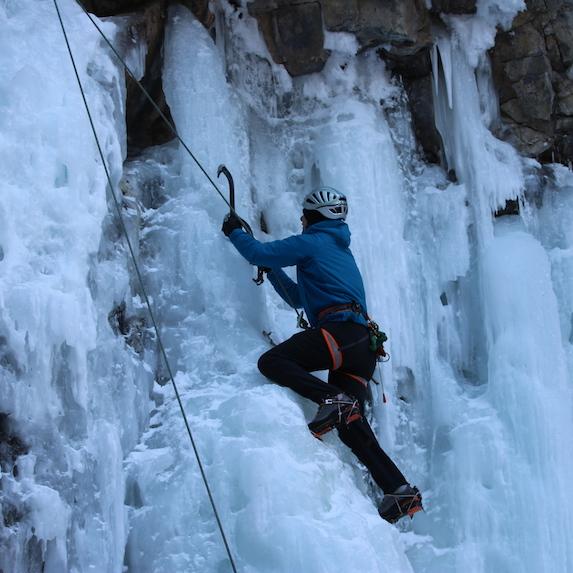 Ice climbing in Alberta