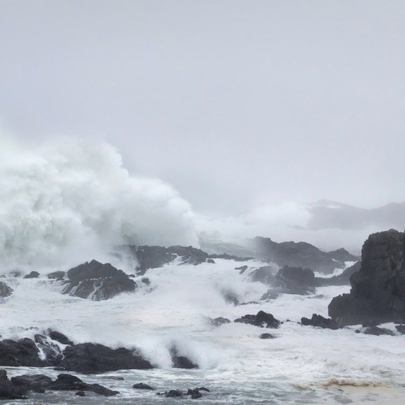 Storm watching on BC's Vancouver Island