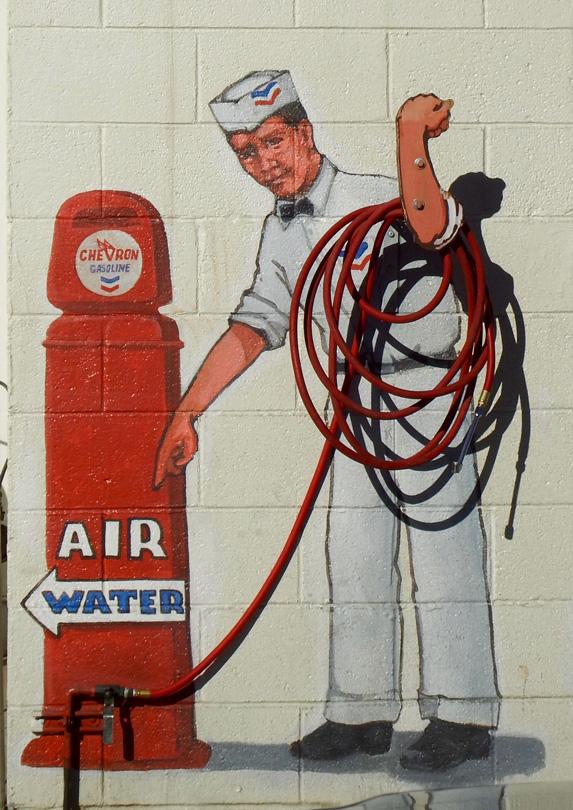 Air hose at gas station