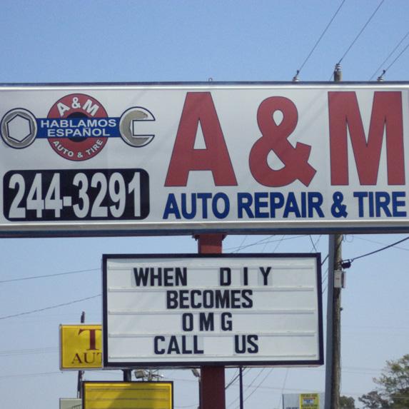 auto repair shop sign