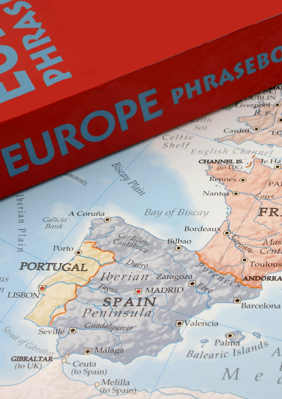 Phrasebook and map