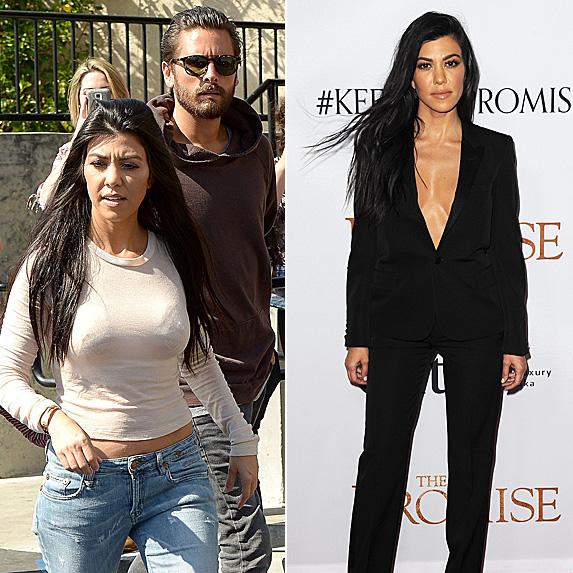 Kourtney Kardashian and Scott Disick; Kourtney Kardashian