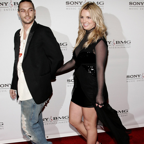 Britney Spears and Kevin Federline photographed in happier times