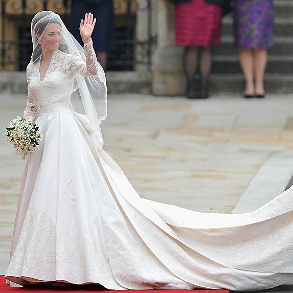 Kate Middleton on her wedding day