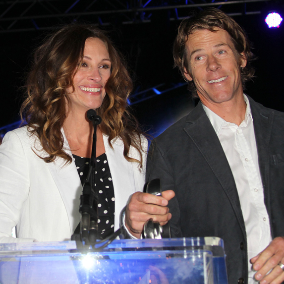 Julia Roberts and husband Danny Moder photographed together at an event