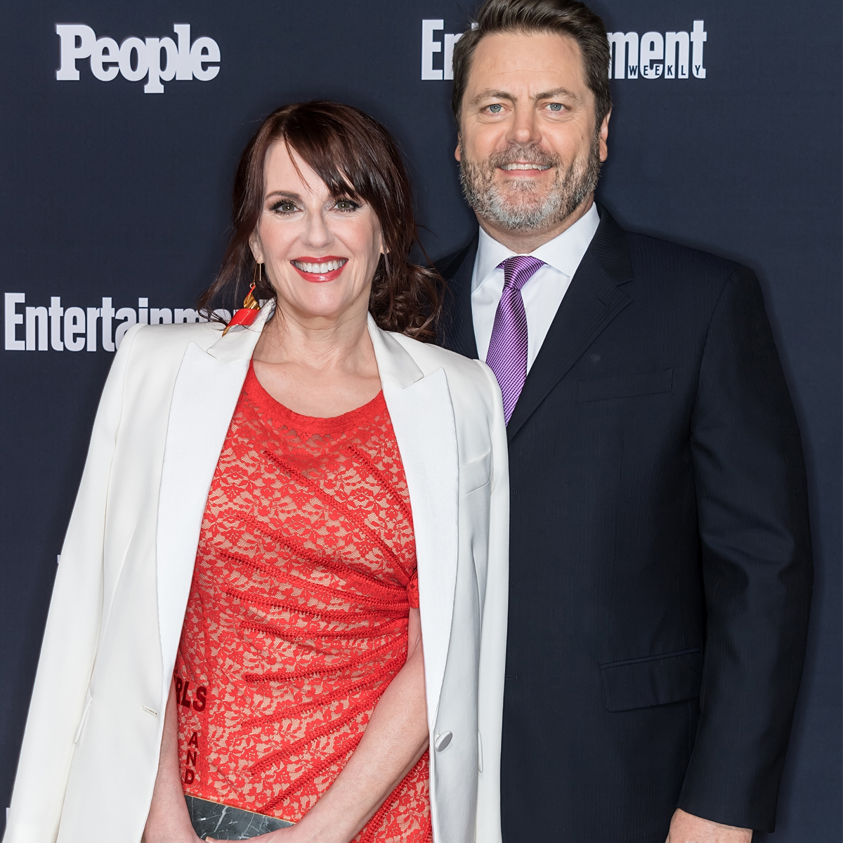 Megan Mullally and Nick Offerman age