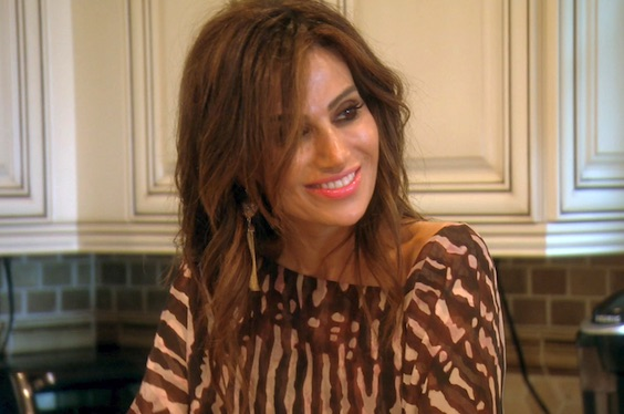 Peggy smiling on an episode of The Real Housewives of Orange County