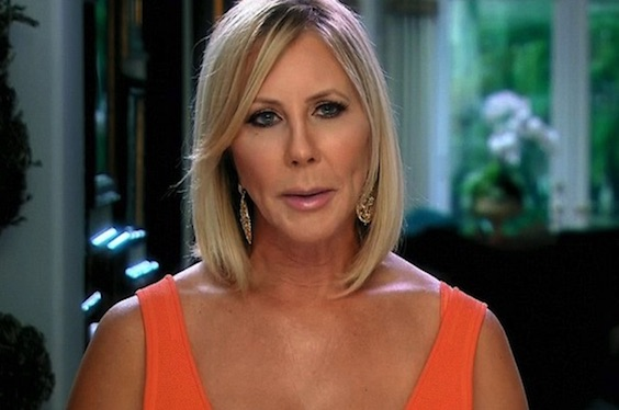 Vicki giving her Real Housewives interview