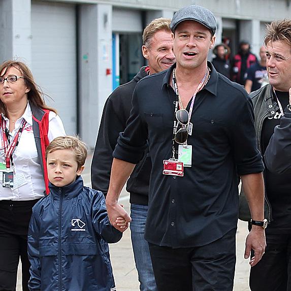 Brad Pitt and son Knox Jolie-Pitt