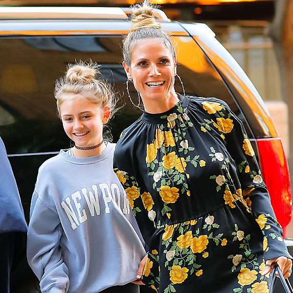 Heidi Klum and daughter Leni