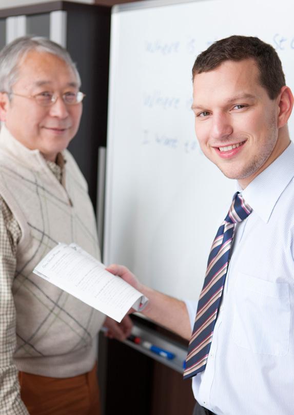 ESL teacher and student