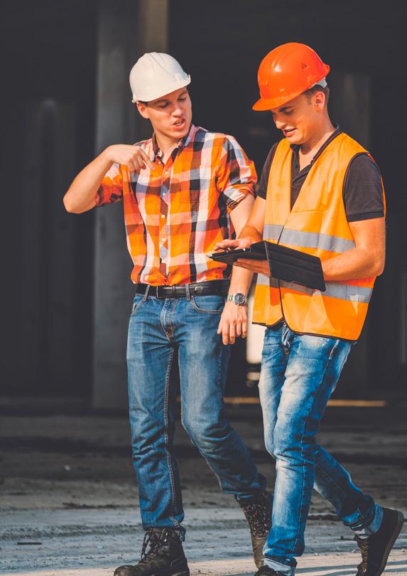 Engineers on job site