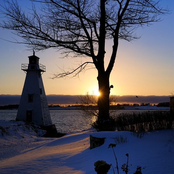 Lighthouse on PEI in the winter