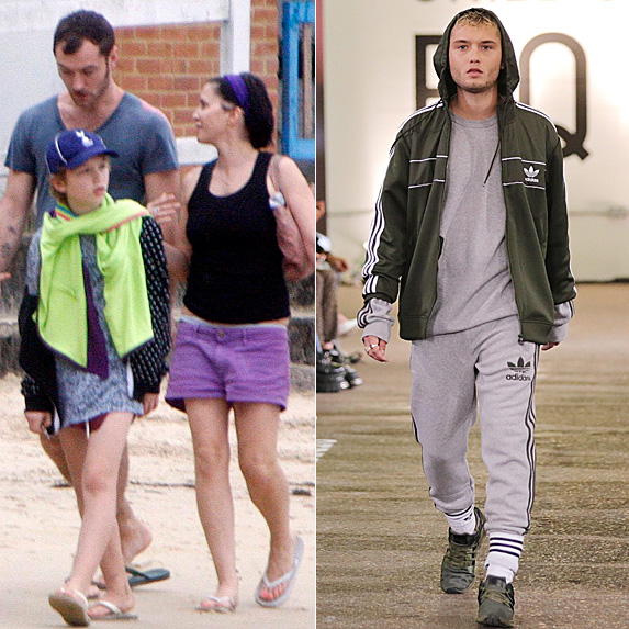 Jude Law, Sadie Frost and Rafferty Law