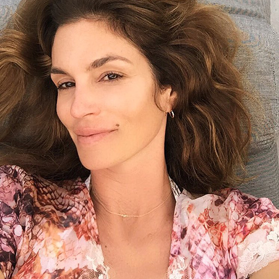 Cindy Crawford without makeup on