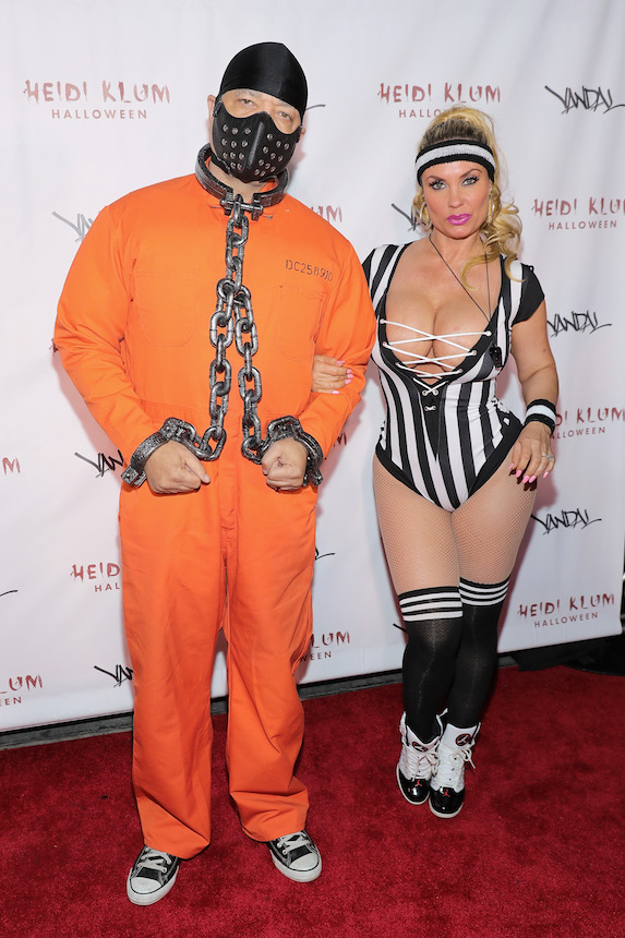 Coco and husband Ice-T dressed in Halloween costumes while attending a party