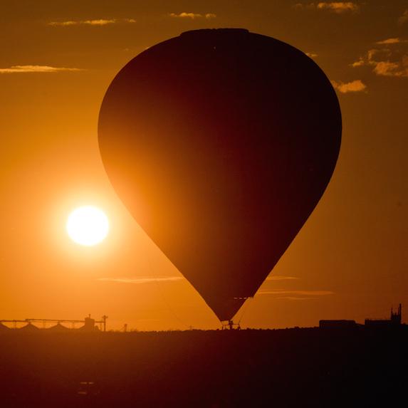 hot-air balloon in Saskatchewan