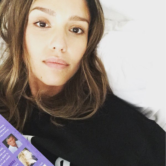 Jessica Alba without makeup on