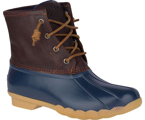 Multicoloured winter boots with rubber and leather materials