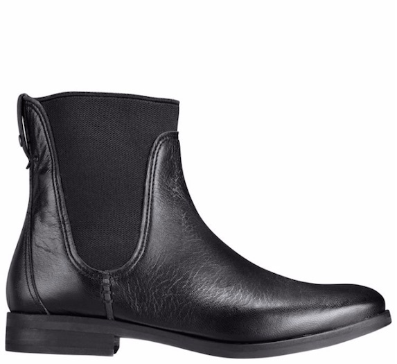Black leather and mesh ankle boots