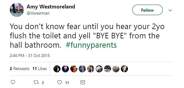 Toilet flushes, kid says