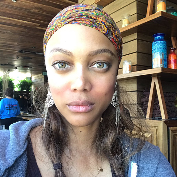 Tyra Banks without makeup on